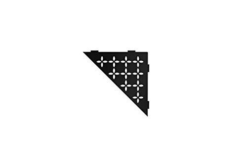 Schluter Systems Triangular Corner Shelf-E – Floral Design – Matte Black (SES1D5MGS) – Kerdi-Line…