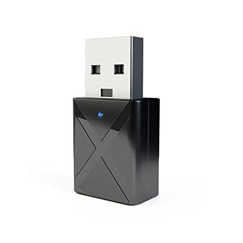 fasloyu 2 in 1 USB Bluetooth Empfänger 3.5 Audio Sender Adapter für TV/PC Kopfhörer Lautsprecher Auto/Heim Stereoanlage, USB Netzteil Mini Wireless Audio Adapter (Schwarz)