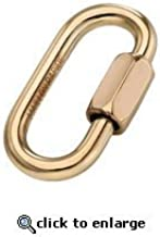 Maillon Rapide Brass Standard Quick Link - 1/8