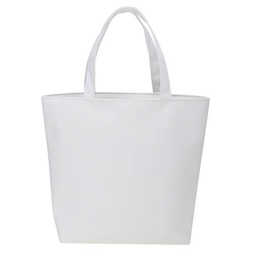 Aspire 20パックキャンバスランチバッグDIYトートバッグボトムガセット - ホワイト