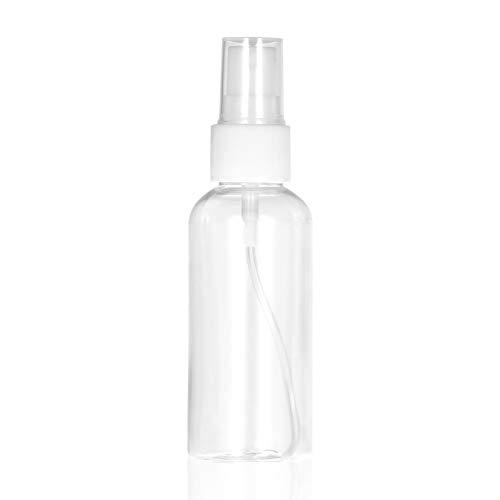 Fesjoy Botellas de Viaje, Botella de Aerosol de Pet Transparente de 60 ml Pulverizador de Niebla Fina Mini Botella de Viaje Contenedor Recargable vacío de plástico para Perfume Cosmético Maquillaje