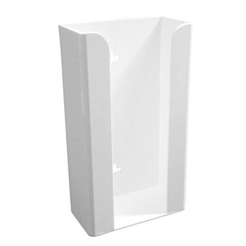 ibasenice - Dispensador de guantes desechables para pared, caja de almacenamiento de guantes desechables, transparente para montar en la pared, capacidad de 3 guanteras