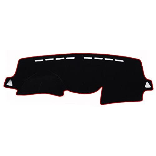 QWSNED Almohadilla de salpicadero, cojín de poliéster para salpicadero, almohadilla de protección para Hyundai Solaris/Accent/Verna 2012-2017
