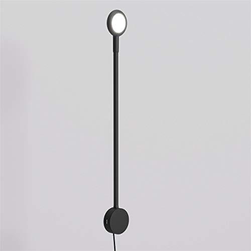 SMARTBett Beleuchtung Soft Touch Schrankbett mit Touch Dimmer und 2 USB-Anschlüßen in Schwarz, LED Buchlampe, Leselampe, flexibel Leselicht, Bettlampe
