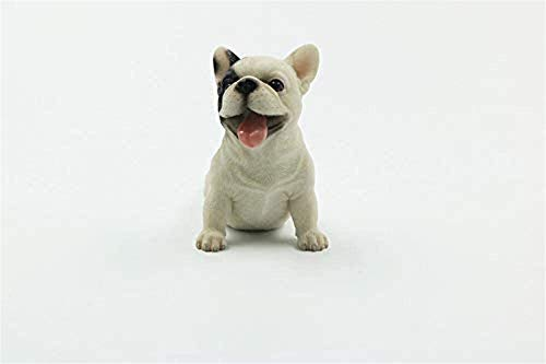 PU HUAI ZHAI Collectible Figurines Garden Animal Figurines Ornaments Statues Sculptures French Bulldog Cute Puppy Car Decoration Simulation Animal Dog bobblehead Dog