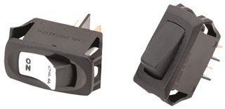 CARLING TECHNOLOGIES RB911-RB-B-0-N SWITCH, ROCKER, SPDT, 16A, 250V, BLACK (1 piece)