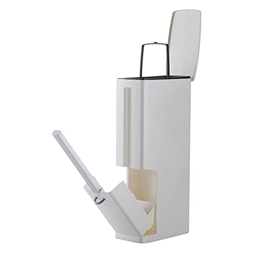 jinyi Papelera clásica creativa de doble barril de basura para el hogar con cepillo de inodoro estrecho para el hogar baño limpieza de basura lata de basura/basura