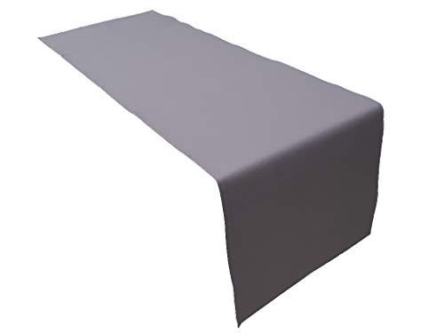 Lemos Home Hochwertiger Tischläufer aus Baumwolle. Tischtuch, Tischdecke. Große Auswahl an Farben. (Anthrazit)