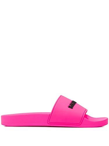 Luxury Fashion   Balenciaga Dames 565547W1S825010 Fuchsia Rubber Sandalen   Lente-zomer 20
