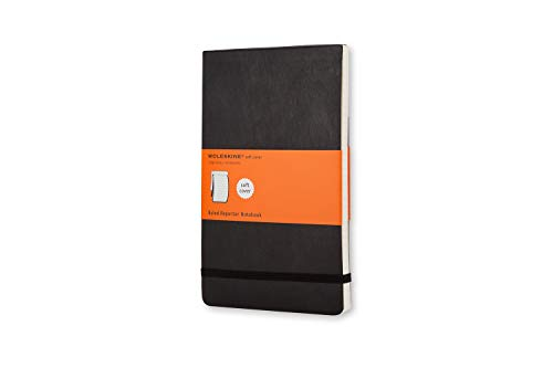 Moleskine Notebook Reporter Pagina a Righe, Taccuino Copertina Morbida, Colore Nero, Dimensione Pocket 9 x 14 cm, 192 Pagine