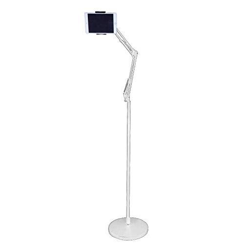 Soporte de acero con cuello de cisne para iPad, altura ajustable 102-175 cm / 40-68,9 pulgadas, soporte blanco para Ipad Pro de 11 pulgadas para pantalla de 4,7 '-12,9' iPhone Samsung, Ipad, Nintendo