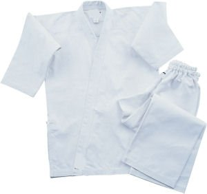 Super Middleweight 8.5 oz Traditional Karate Uniform - White Size 6