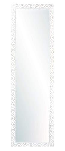 Chely Intermarket, Espejo de Pared 35x140 cm(44x149cm)(Blanco-Plata) Mod-144, Ideal para peluquerías, salón, recibidor, Comedor y oficinas. Fabricado en España. Material Madera.