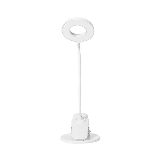 Schreibtischlampen Tischleuchten Clip-Art LED-Schreibtischlampe 360 ° Einstellbarer Augenschutz Ladeschreibtischlampe Studentenwohnheim Schreibtisch Leselampe Weiß Tisch-&Nachttischlampen