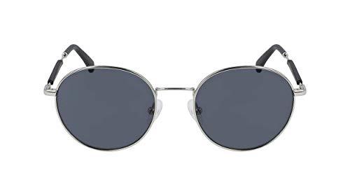 Calvin Klein CKJ20110S Gafas, Shiny Silver, 50/19/145 Unisex Adulto