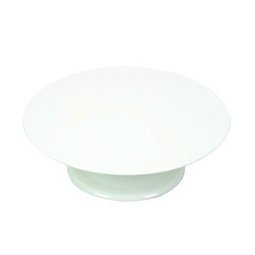 Tortenplatte drehbar mit Fuß Melamin weiß Tortenplatte mit drehbarem Teller stabile Ausführung