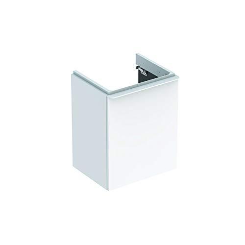 Keramag Geberit Smyle Square Handwaschbecken Unterschrank, 500350, 442x617x356mm, mit 1 Tür, rechtsöffnend, Farbe: Weiß Hochglanz Lack