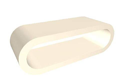 Zespoke Cerceau de Style Rétro Grande Crème Haute Brillance Largeur Table Basse/Meuble TV 110cm