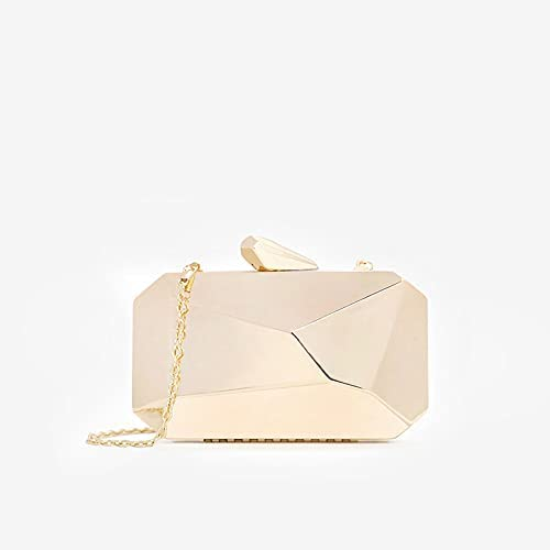 zyylppylw Shoulder Bags Gold Acrylic Box Geometric Bags Clutch Evening Bag Elegent Chain Shoulder Bag for Women 2020 Handbag for Wedding/Dating/Party (Color : Gold)