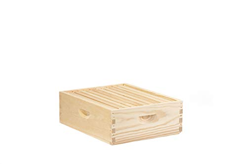 Little Giant 10-Frame Medium Super Beehive Body with Frames for Beekeeping (Item No. MEDBOX10)