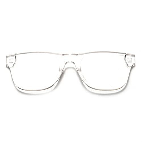PPCLU Clear Squareless Rimless Sunglasses Mujeres Transparente Color Gafas de Sol Femenino Retro Visera Espejo Claro Amarillo Rosa (Lenses Color : Transparent)