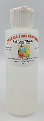 Rainbow Sherbet~ Citrusy, Sweet, and Creamy Scented Oil by Fireball Fragrances-Large 4 Oz Bottle!