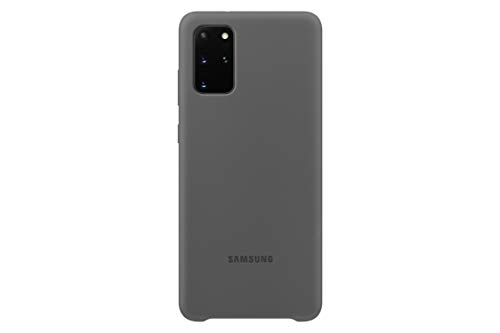 Samsung Silicone Smartphone Cover EF-PG985 für Galaxy S20+ | S20+ 5G Handy-Hülle, Silikon, Schutz Hülle, stoßfest, dünn & griffig, grau