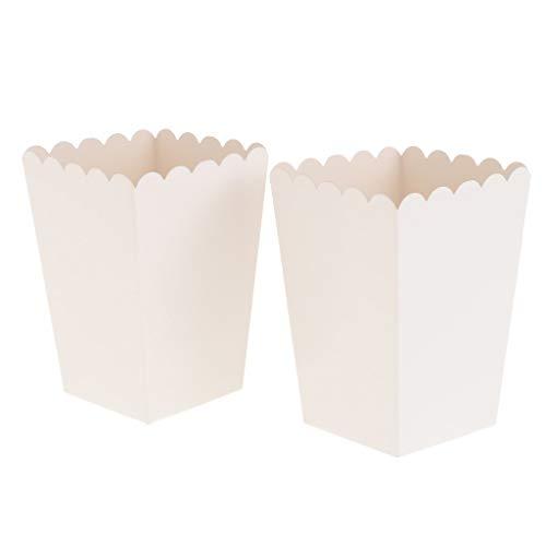 Palitos De Palomitas De Maíz Blanco Puro Cajas Contenedores Bolsas De Palomitas De Maíz De Papel Paquete De 12