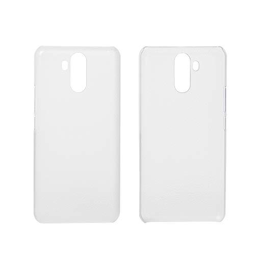 Ycloud Tasche für Oukitel K6 Hülle, Gute Qualität Strukturierter Handykasten Hartschalen-Rückabdeckung Handy case Backcover Kunststoff-Hard Shell Handyhülle Hülle - Transparentes weiß