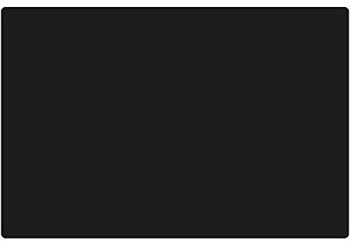 Matches21 - Protector de escritorio de piel auténtica, rectangular, 60 x 40 cm, color negro
