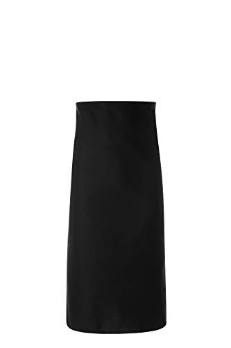 JOBLINE - Delantal de cintura 100 x 90 cm con bolsillo negro con bolsillos (paquete de 05 unidades)