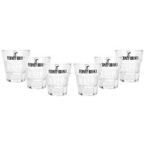 Fernet Branca Shotglas Glas Gläser Set - 6x Shotgläser 0,02l 2cl geeicht