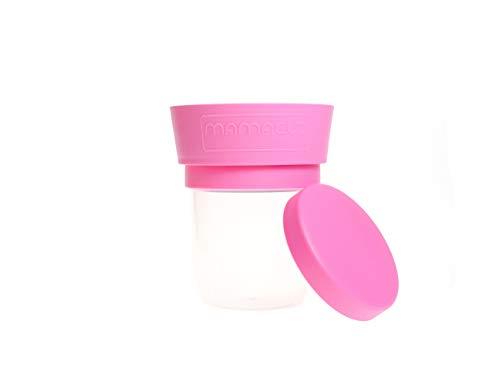 MAMACUP MCSTDPNK01 spill-proof snack cup, lekvrije beker voor thuis en onderweg, roze
