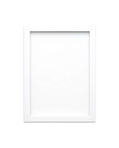 Marco de fotos, negro o blanco, Los carteles con marco A4, A3, Hoja de plexiglás estireno irrompible con gran nitidez. Moldura con medida de 19mm de ancho y 15mm de profundidad, blanco / negro, A3