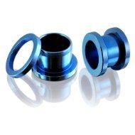 Desire - Dilatatori per lobo, acciaio INOX, colore: blu, Acciaio inossidabile, colore: blu