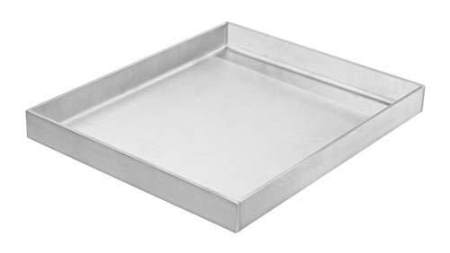 mocisa Grillplatte | Plancha | BBQ-Wanne | Grillkorb | Made in Germany | Edelstahl | Massiv | hochwertig verarbeitet | geschlossene Wanne (30cmx25cm) | wasserdicht verschweißt