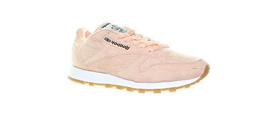 Reebok Men's CL LTHR Pastels Sneaker, Desert Stone/Classic Whit, 6 M US