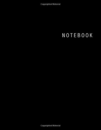 Notebook: Unlined Notebook - Large (8.5 x 11 inches) - 100 Pages - Black Cover