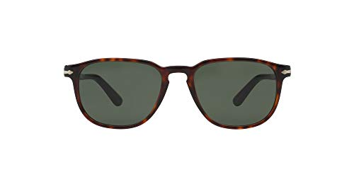Persol - Gafas de sol Wayfarer PO 3019S 3019, 24/31, Havana, Gris