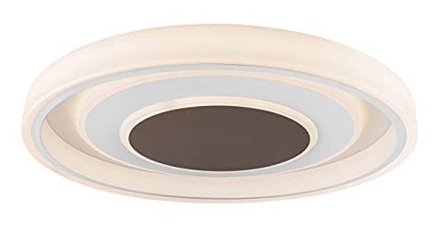 Globo Gofzi - Lámpara de techo (metal blanco, acrílico opalino, metal), color marrón