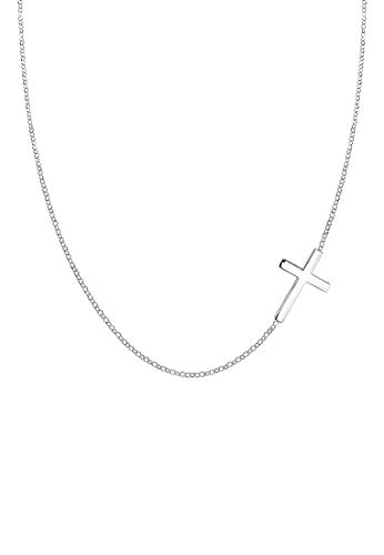 Elli Halskette Damen mit Anhänger Kreuz Religion in 925 Sterling Silber