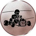 S.B.J - Sportland Pokal/Medaille Emblem, Motiv Go-cart, Durchmesser 50 mm Durchmesser -