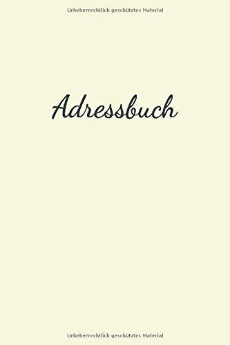 Adressbuch: In Beige Für Namen, Adresse, Geburtstagskalender, Email, Telefon, Notizen