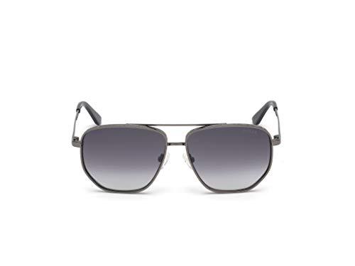 Sunglasses Guess GU 7635 08B shiny gumetal/gradient smoke