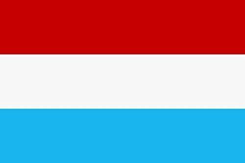 U24 Aufkleber Luxemburg Flagge Fahne 8 x 5 cm Autoaufkleber Sticker