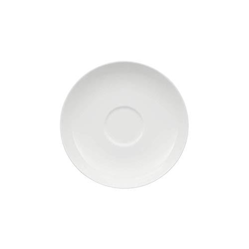 Villeroy & Boch Royal Kaffee-/Tee-Untertasse, runder Unterteller aus hochwertigem Premium Bone Porzellan, weiß, spülmaschinenfest, 150 mm