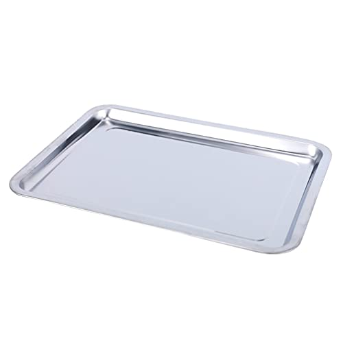 POPETPOP Stainless Steel Baking Sheet Cookie Sheet Pans Decorative Storage Serving Tray Sundries Organiser for Kitchen Home