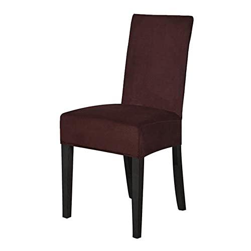 JIAYAN Samt Esszimmerstuhlbezug Elastischer Stuhl Schonbezug Esszimmerstuhlbezüge Sitzkoffer für Hochzeit Hotel Bankett-Kaffee, Australien, 6-TLG