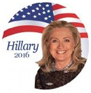 OFFICIAL HILLARY CLINTON 2016 Hillary White Flag 2016 Campaign Button