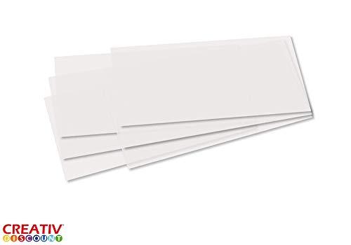 CREATIV DISCOUNT ® Laternenzuschnitte 25 Stk. Transparentpapier, weiß - 20x52cm
